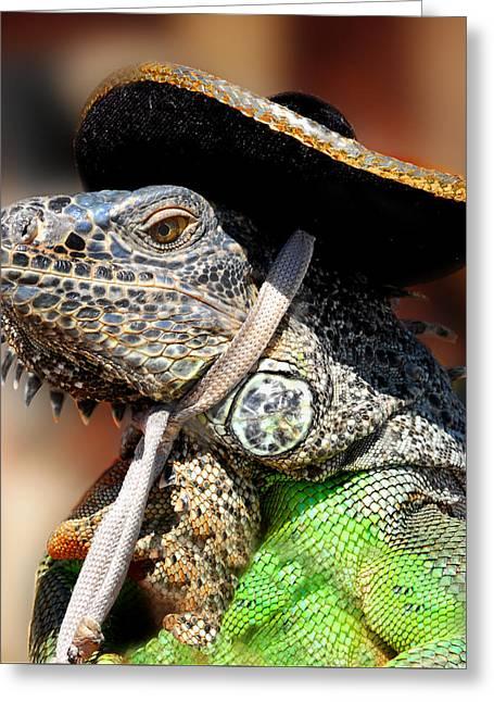 Green Iguana Greeting Card