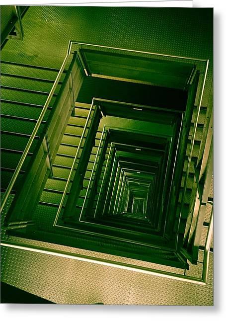Green Infinity Greeting Card