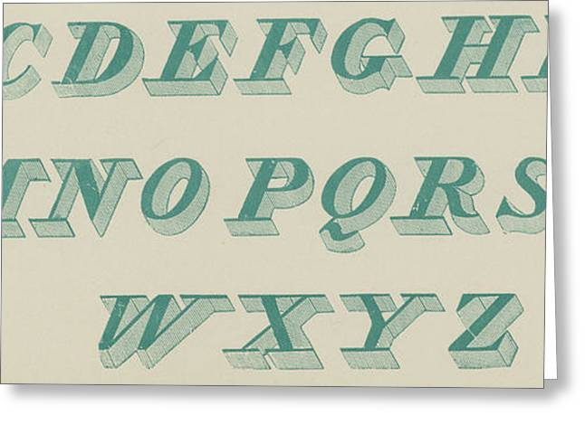 Green Italic Font Greeting Card by English School