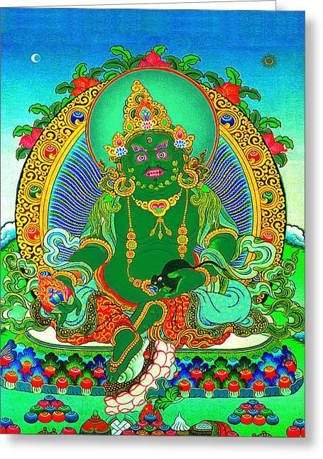 Green Jambhala  1 Greeting Card