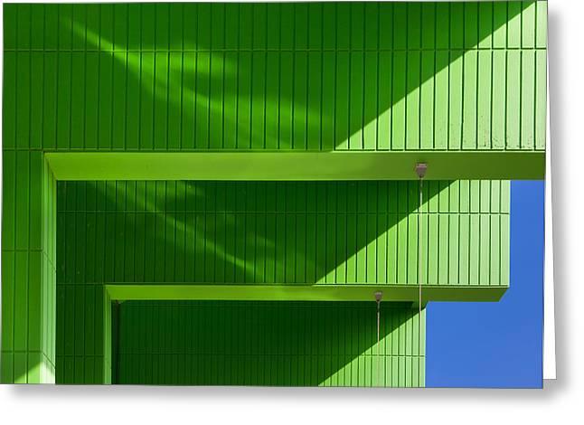 Green Greeting Card by Jeroen Van De Wiel