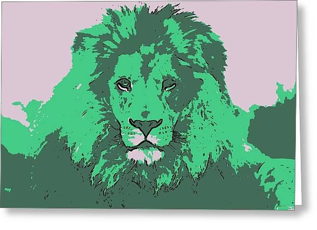 Green King Greeting Card