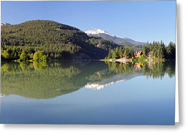 Green Lake Whistler Panorama Greeting Card by Pierre Leclerc Photography