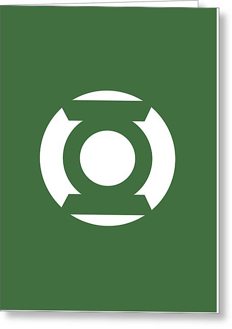 Green Lantern Greeting Card by Caio Caldas