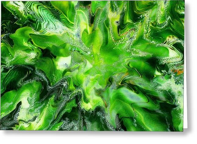 Green Leaf Greeting Card by Paul Tokarski