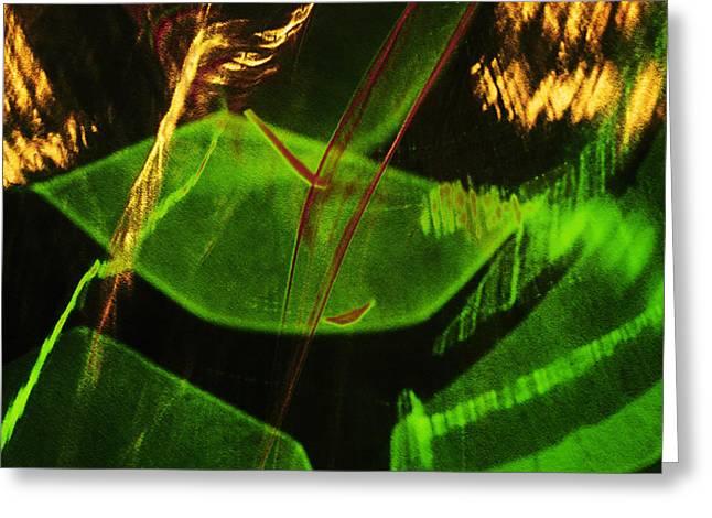 Green Leaves In Sunlight Greeting Card by Elena Lir-Rachkovskaya