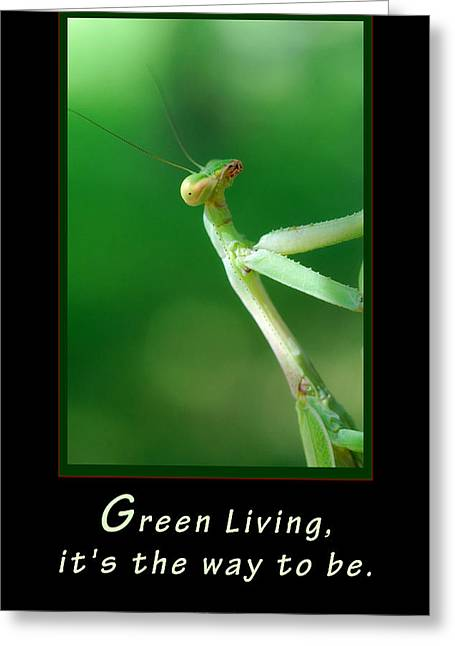 Green Living Greeting Card
