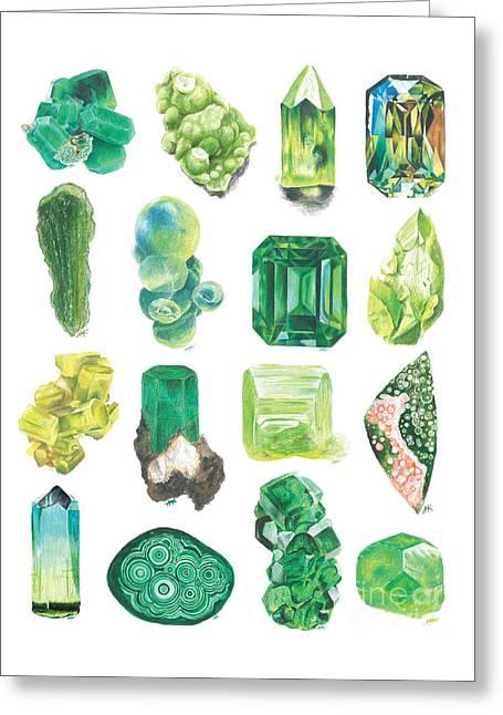 Green Machine Greeting Card by Abigail Kramer