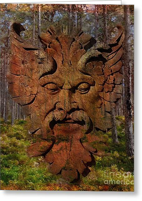 Green Man Of The Forest 2016 Greeting Card