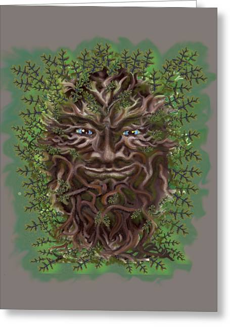 Green Man Of The Forest Greeting Card