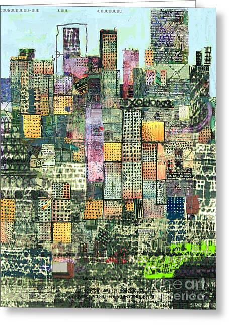 Green Metropolis  Greeting Card by Andy  Mercer