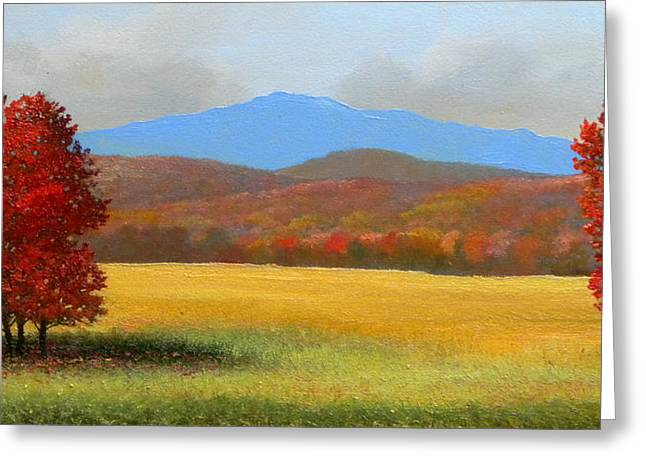 Green Mountain Landscape Greeting Card by Frank Wilson