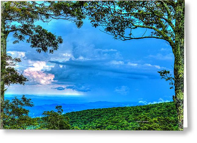 Green Mountain Storm Greeting Card