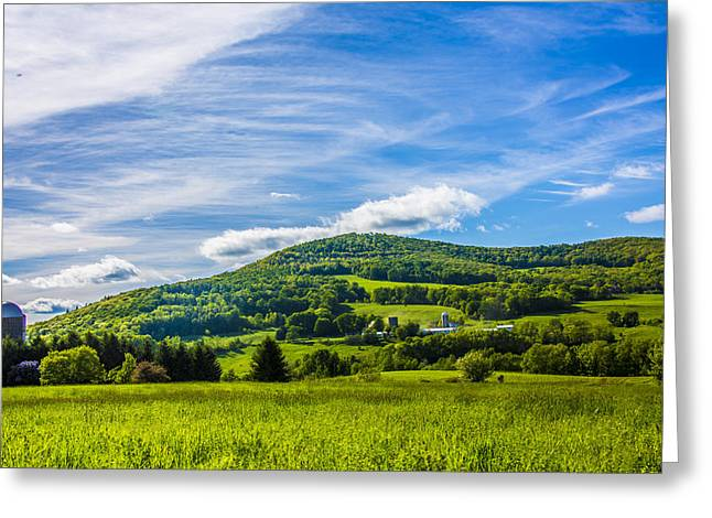 Greeting Card featuring the photograph Green Mountains And Blue Skies Of The Catskills by Paula Porterfield-Izzo