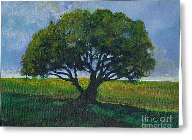 Green Oak Greeting Card by Michele Hollister - for Nancy Asbell