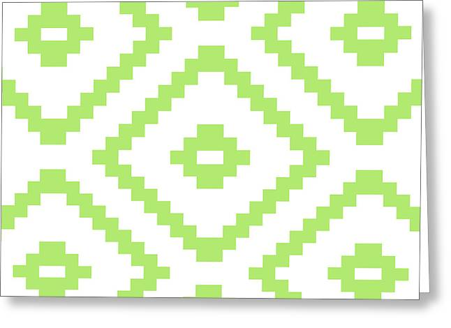 Green Pattern  Greeting Card by Mark Ashkenazi