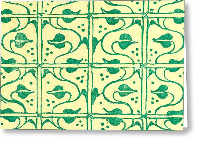 Green Pattern Greeting Card