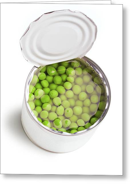 Green Peas In The Can  Greeting Card