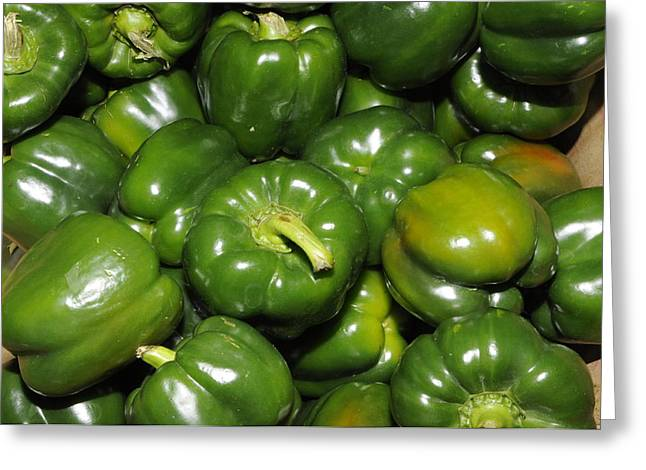 Green Peppers Greeting Card