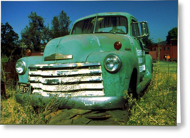 Green Pickup Truck 1959 Greeting Card