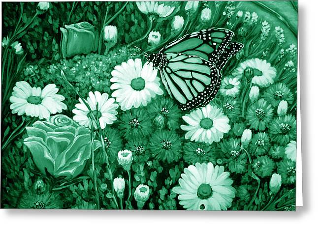 Green Planet Greeting Card by Katreen Queen