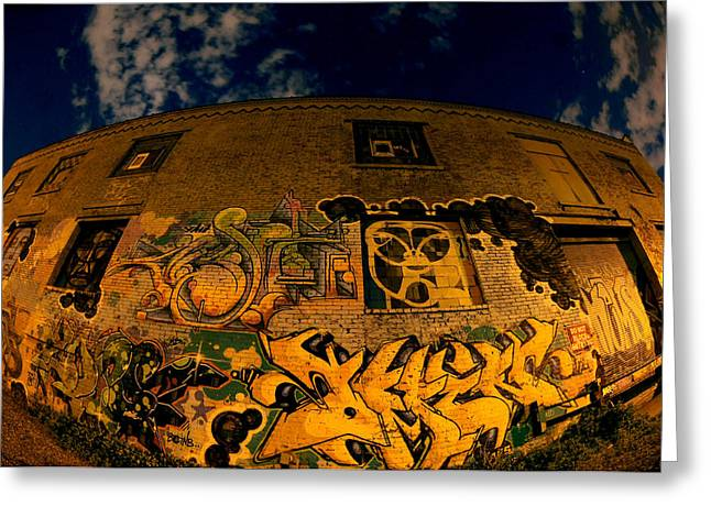Mike Lindwasser Photography Greeting Cards - Green Point Graffiti Greeting Card by Mike Lindwasser Photography