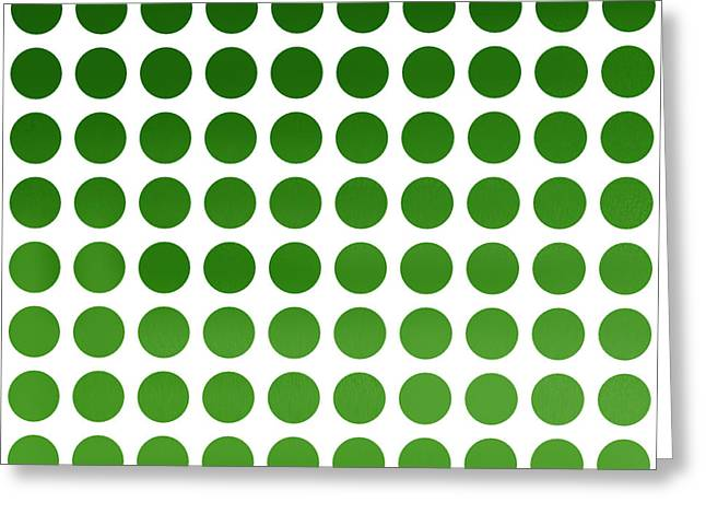 Green Polka Dots Greeting Card by Art Spectrum