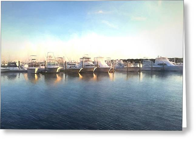 Green Pond Harbor Greeting Card
