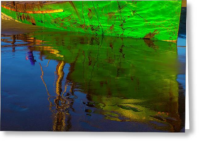 Green Reflection Greeting Card