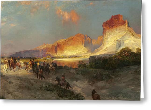 Green River Cliffs Wyoming Greeting Card