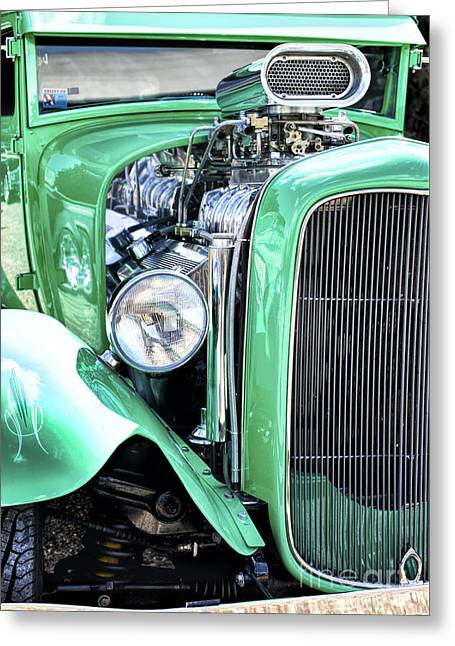 Green Rod Greeting Card by Tim Gainey