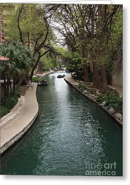 Carol Groenen Greeting Cards - Green San Antonio River Greeting Card by Carol Groenen