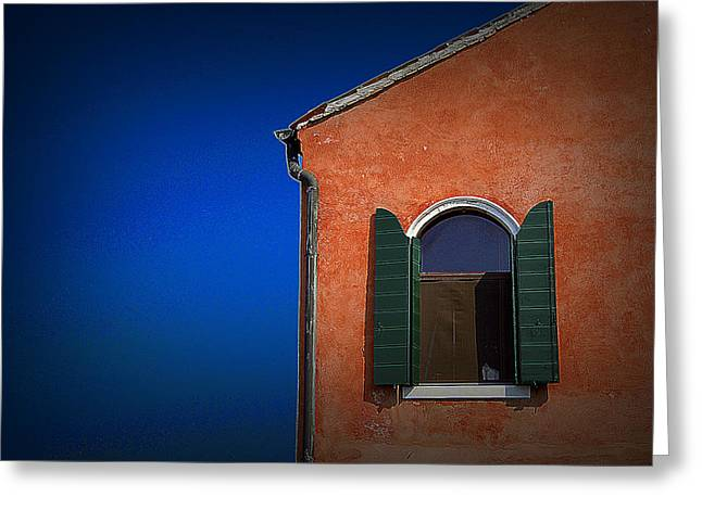 Green Shutters Greeting Card by James Zuffoletto