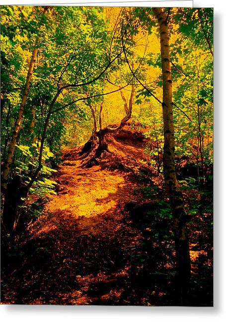 Green Silence Greeting Card