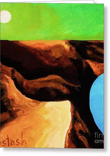 Green Skies Greeting Card