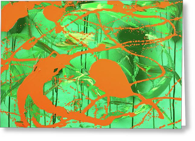 Green Spill Greeting Card