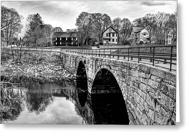 Green Street Bridge In Black And White Greeting Card