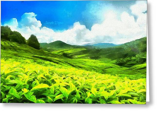 Green Tea - Da Greeting Card by Leonardo Digenio