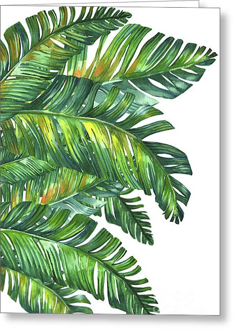 Green Tropic  Greeting Card