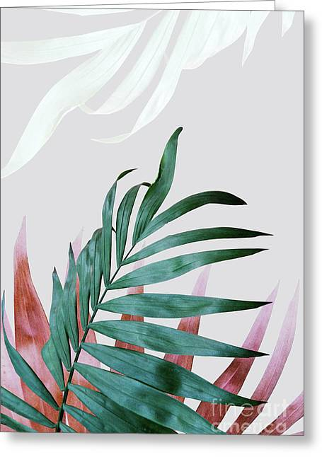 Green Tropical Leaves, Fern Plant Greeting Card