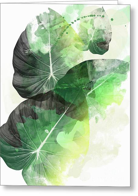 Green Tropical Greeting Card