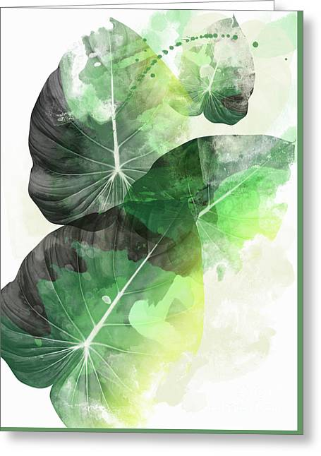 Green Tropical Greeting Card by Mark Ashkenazi