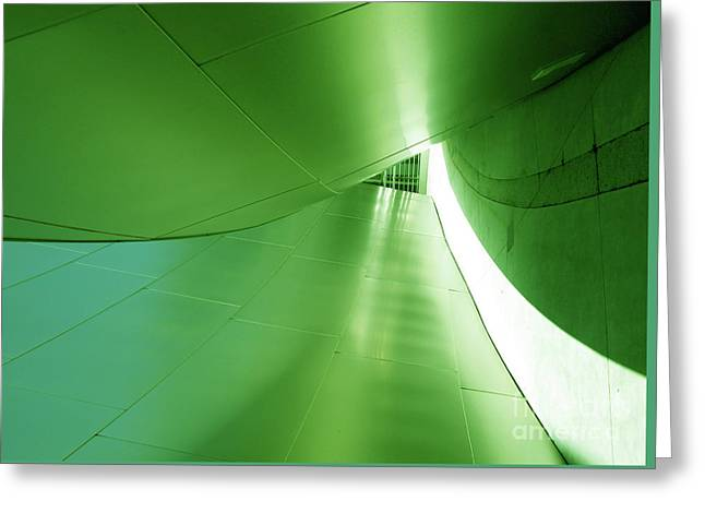 Greeting Card featuring the photograph Green Tunnel. Los Angeles Series. by Ausra Huntington nee Paulauskaite