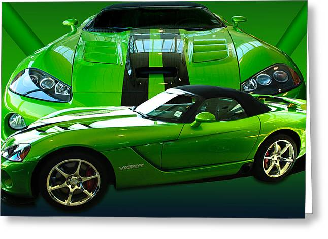 Green Viper Greeting Card