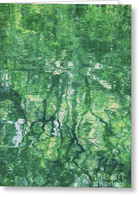 Green Water Abstract Greeting Card