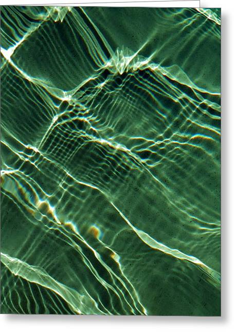 Green Water Net Greeting Card