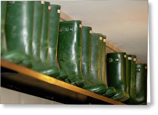 Green Wellies Greeting Card