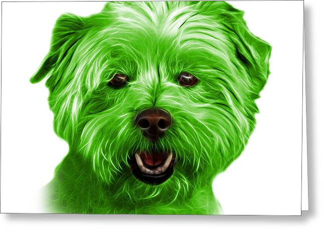 Green West Highland Terrier Mix - 8674 - Wb Greeting Card
