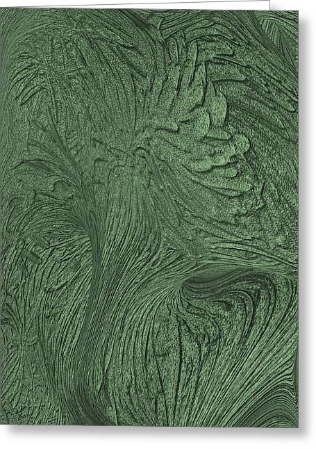 Green Wind Greeting Card