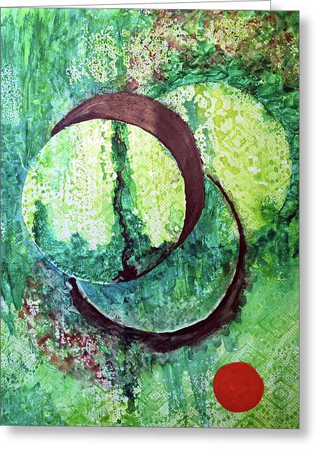 Green With Envy Greeting Card by James Pinkerton